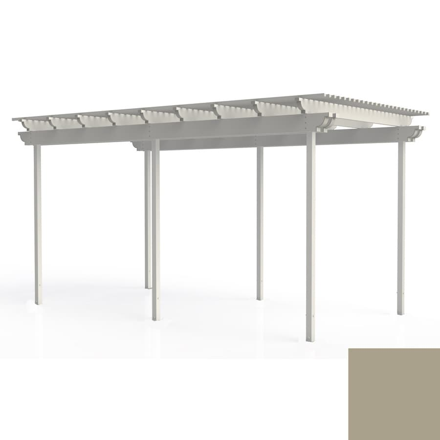 Americana Building Products 96-in W x 216-in L x 112.5-in H Adobe Aluminum Freestanding Pergola