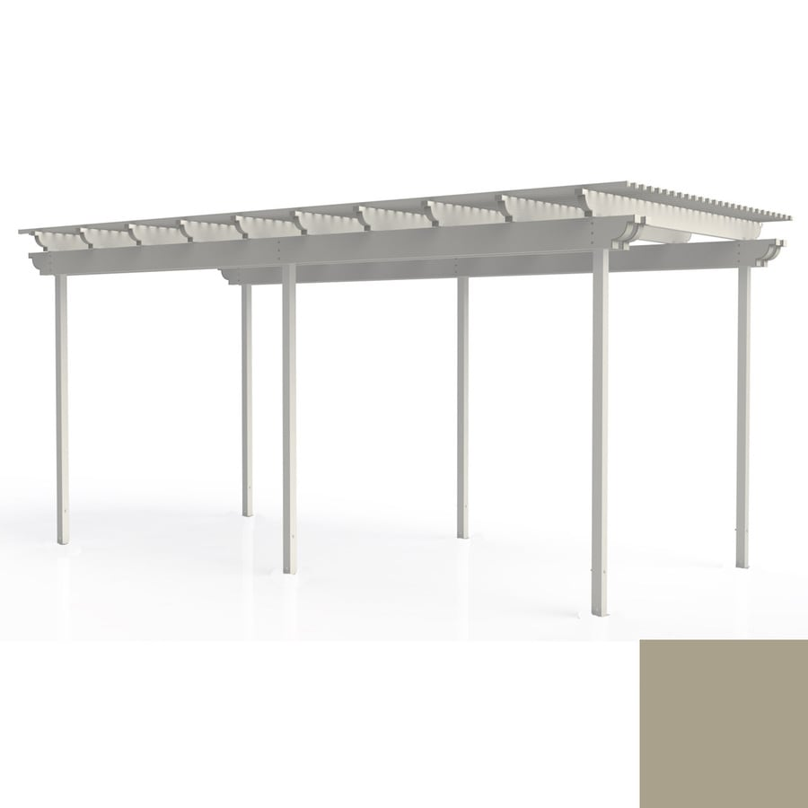 Americana Building Products 96-in W x 240-in L x 112.5-in H Adobe Aluminum Freestanding Pergola