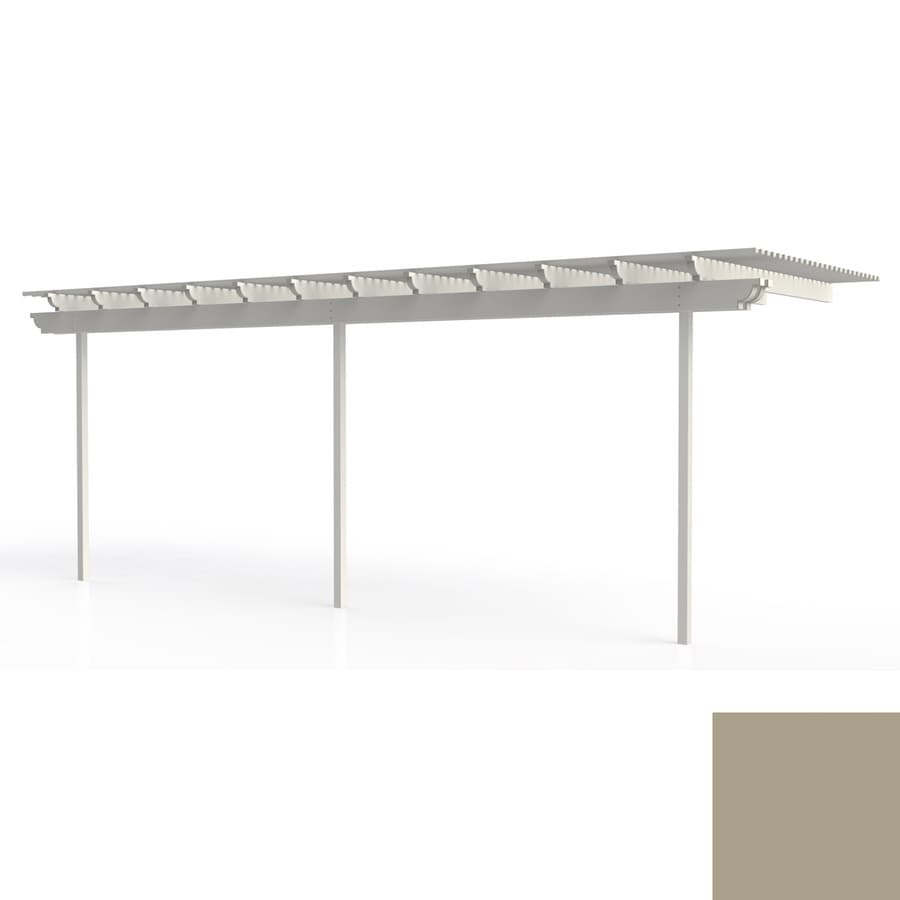 Americana Building Products 144-in W x 300-in L x 112.5-in H Adobe Aluminum Attached Pergola