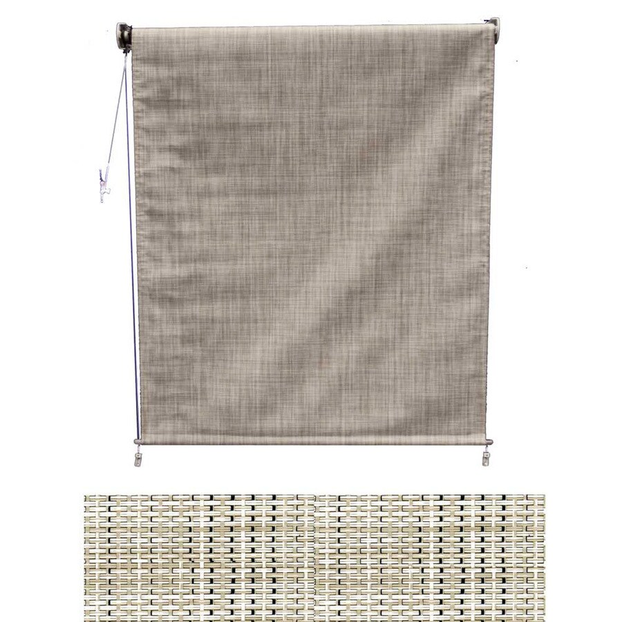 Americana Building Products 84-in W x 60-in L Textilene Birch Tweed Light Filtering Exterior Shade
