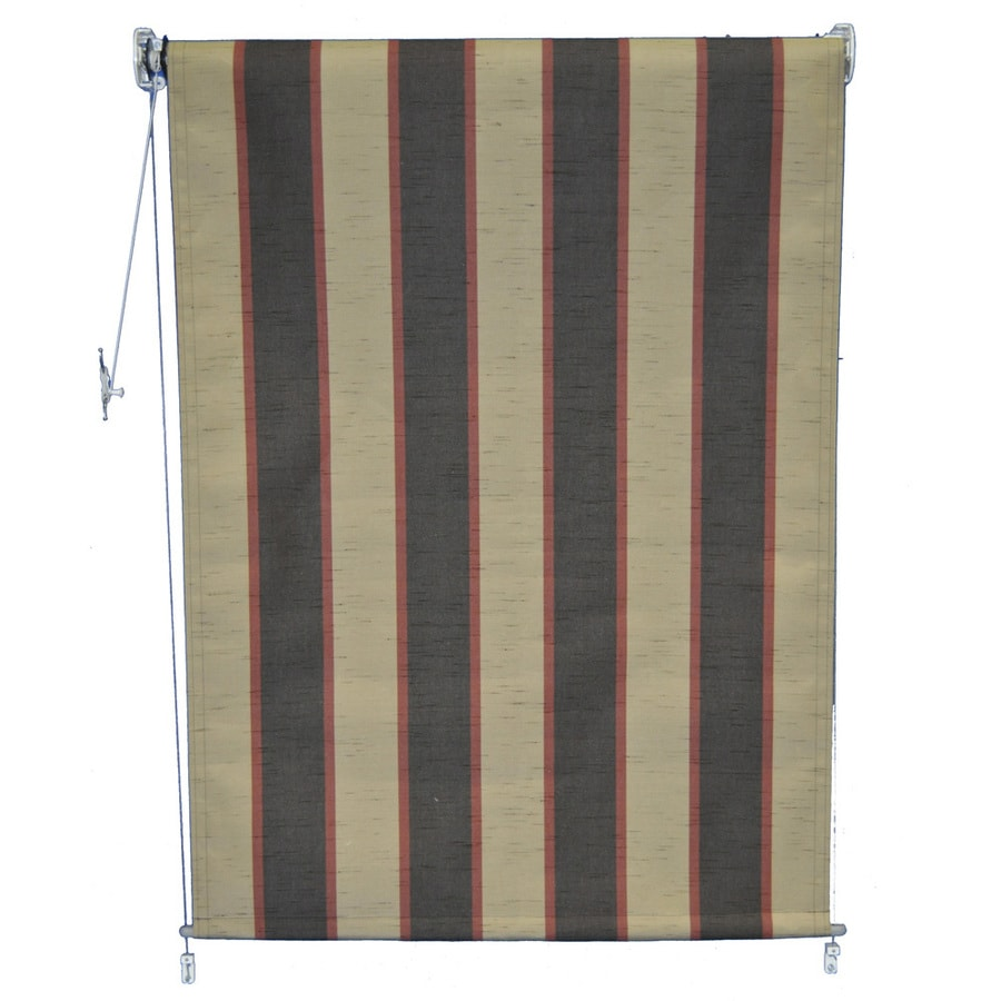 Americana Building Products 60-in W x 84-in L Sunbrella 4773 Bisque Brown Room Darkening Exterior Shade