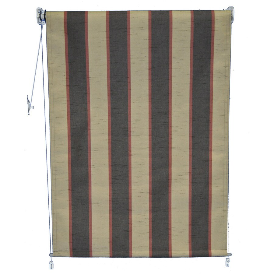 Americana Building Products 84-in W x 72-in L Sunbrella 4773 Bisque Brown Room Darkening Exterior Shade