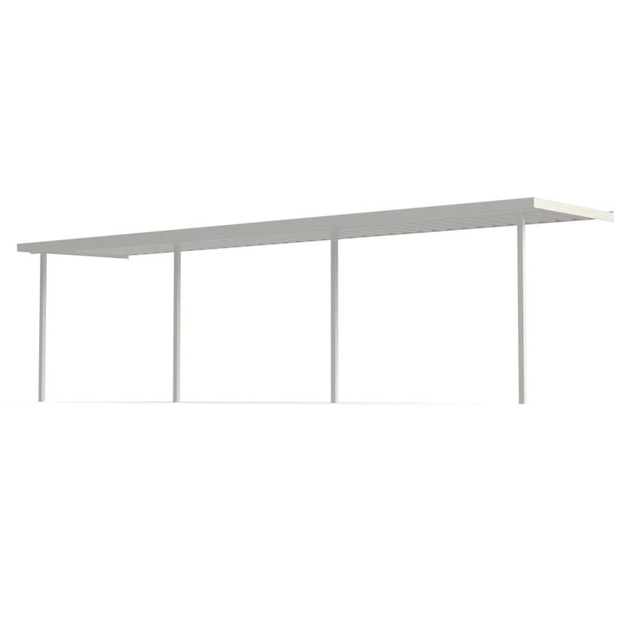 Americana Building Products 20-ft x 12-ft x 8-ft White Metal Single Car Carport