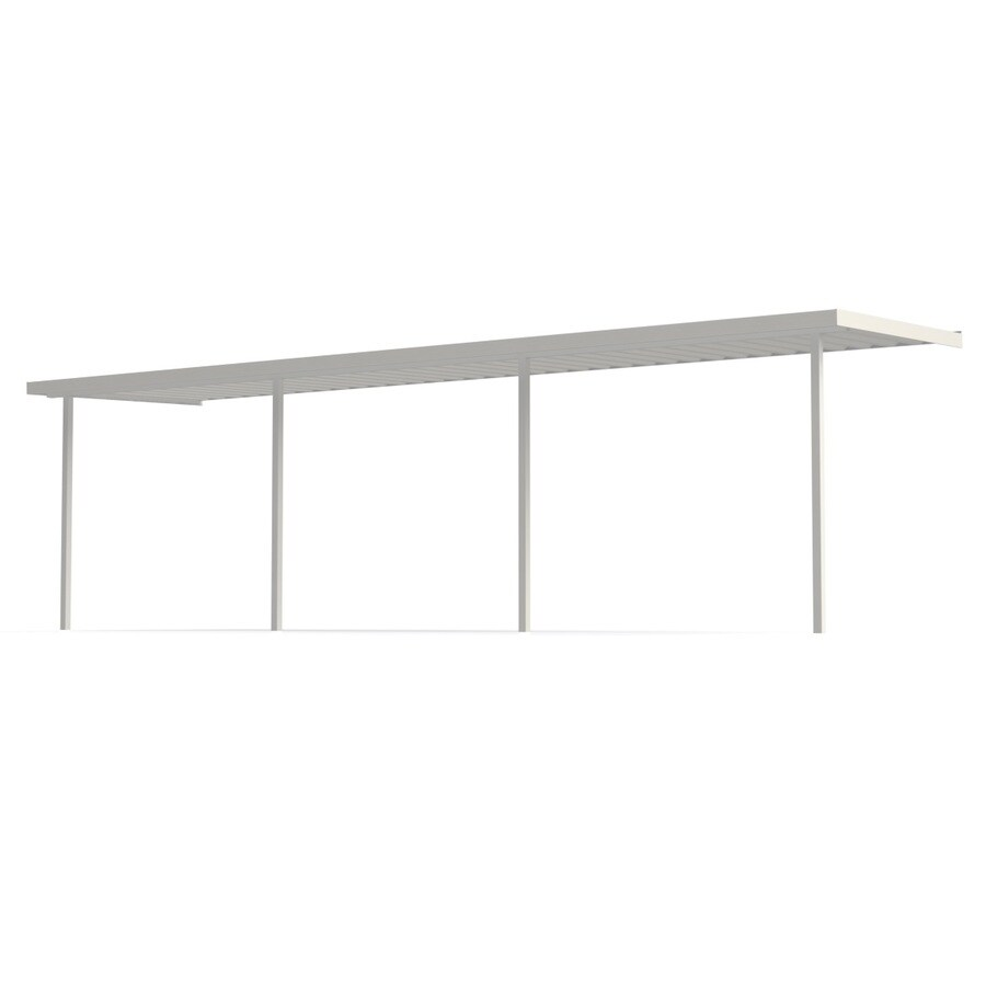 Americana Building Products 25-ft x 12-ft x 8-ft White Metal Single Car Carport