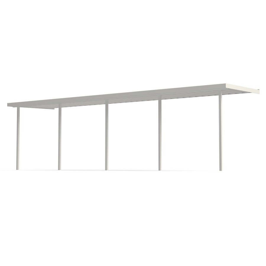 Americana Building Products 30-ft x 12-ft x 8-ft White Metal Single Car Carport