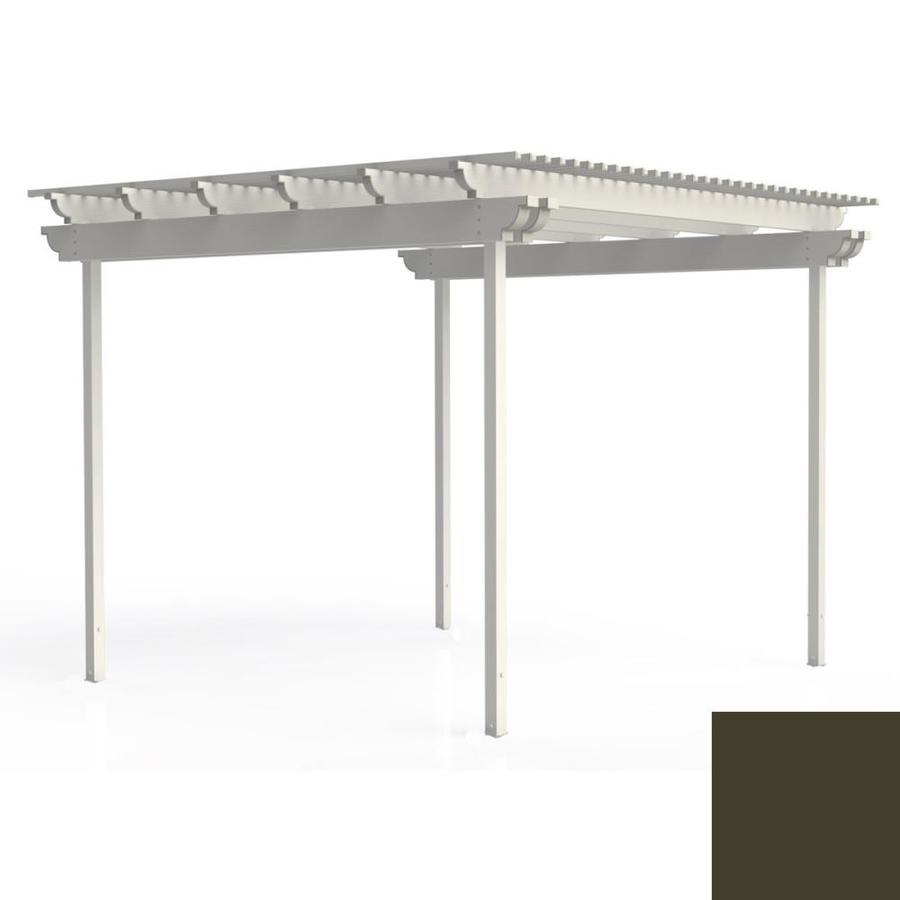 Americana Building Products 120-in W x 120-in L x 112.5-in H Aged Bronze Aluminum Freestanding Pergola