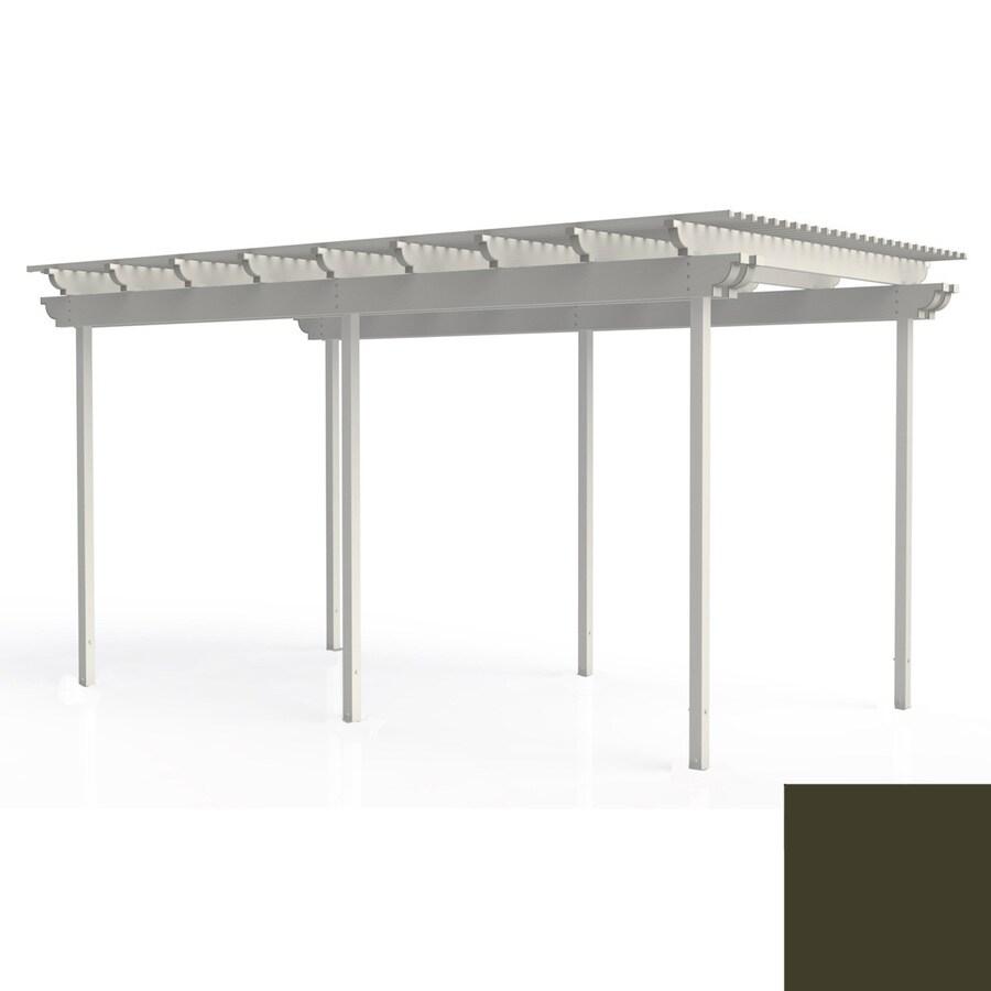 Americana Building Products 120-in W x 240-in L x 112.5-in H Aged Bronze Aluminum Freestanding Pergola