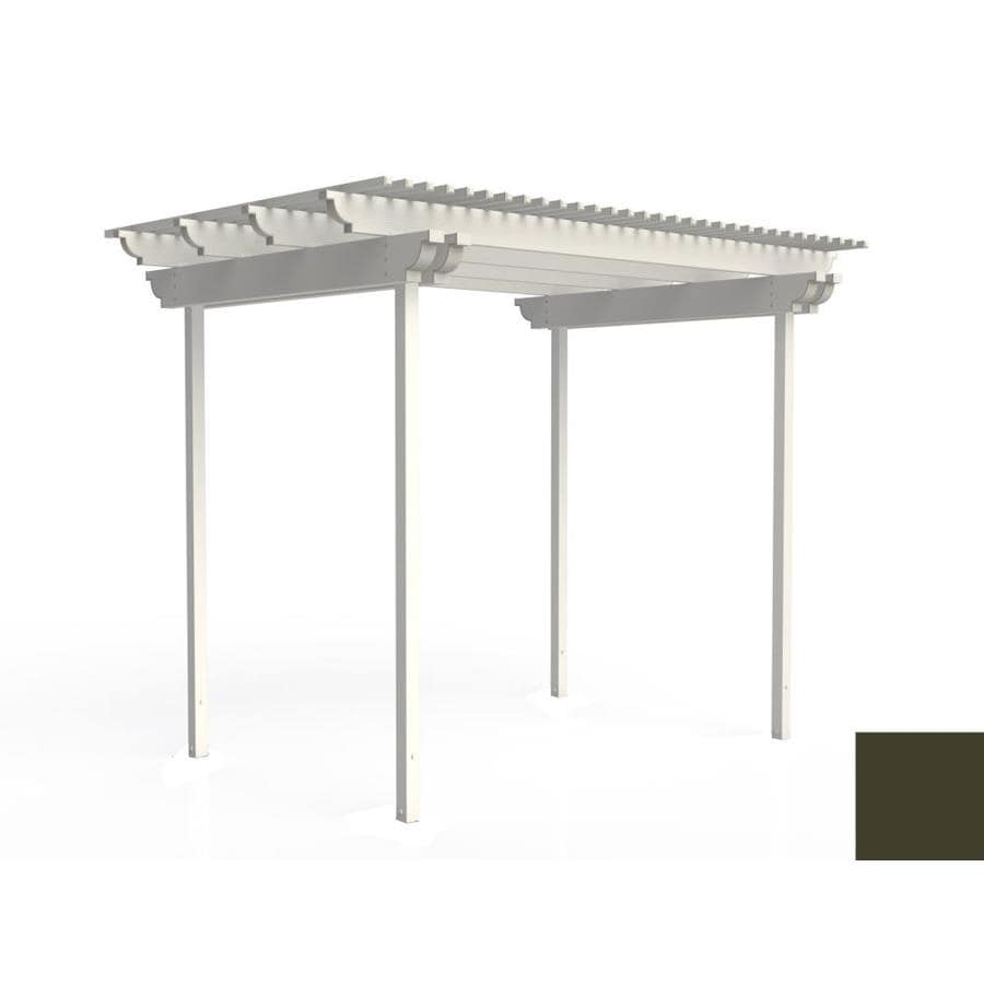 Americana Building Products 120-in W x 96-in L x 112.5-in H Aged Bronze Aluminum Freestanding Pergola