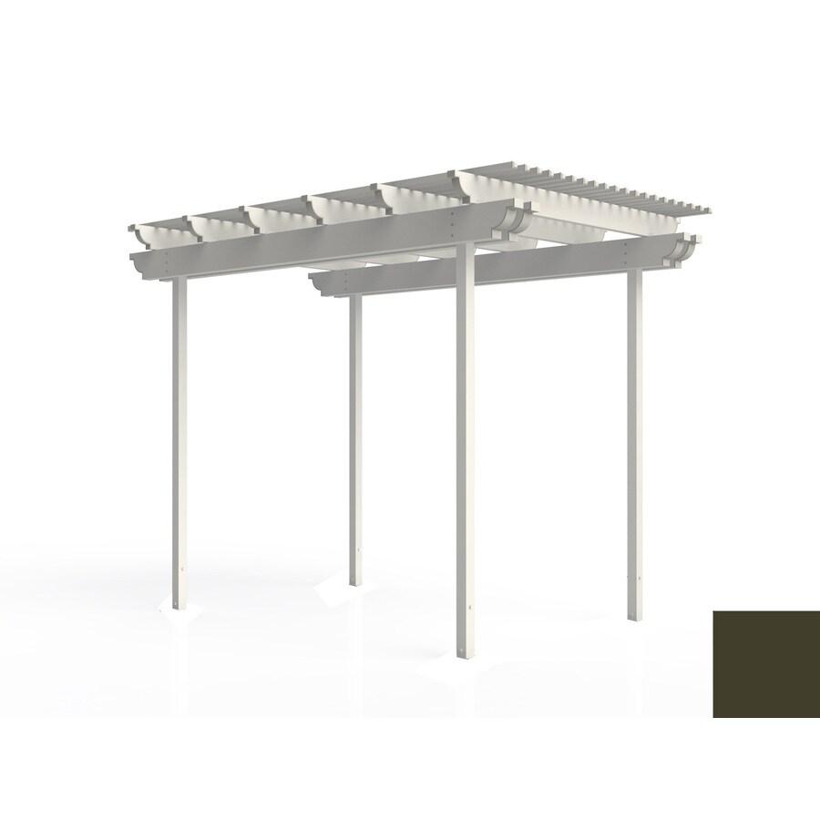 Americana Building Products 96-in W x 144-in L x 112.5-in H Aged Bronze Aluminum Freestanding Pergola