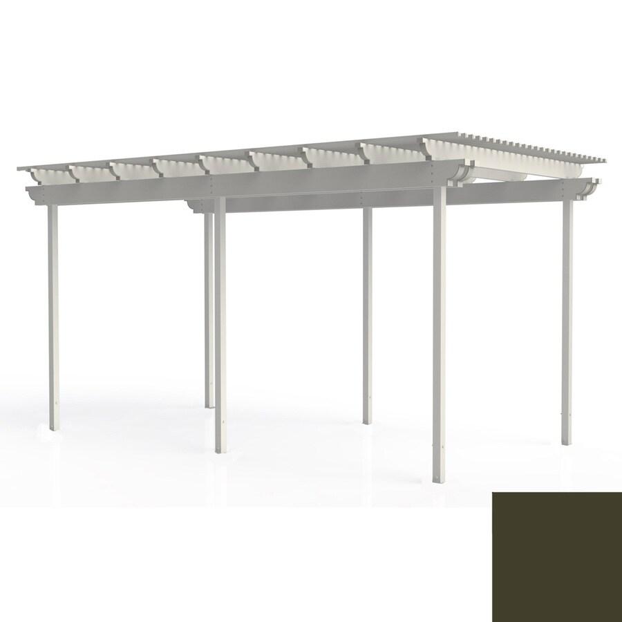 Americana Building Products 96-in W x 192-in L x 112.5-in H Aged Bronze Aluminum Freestanding Pergola