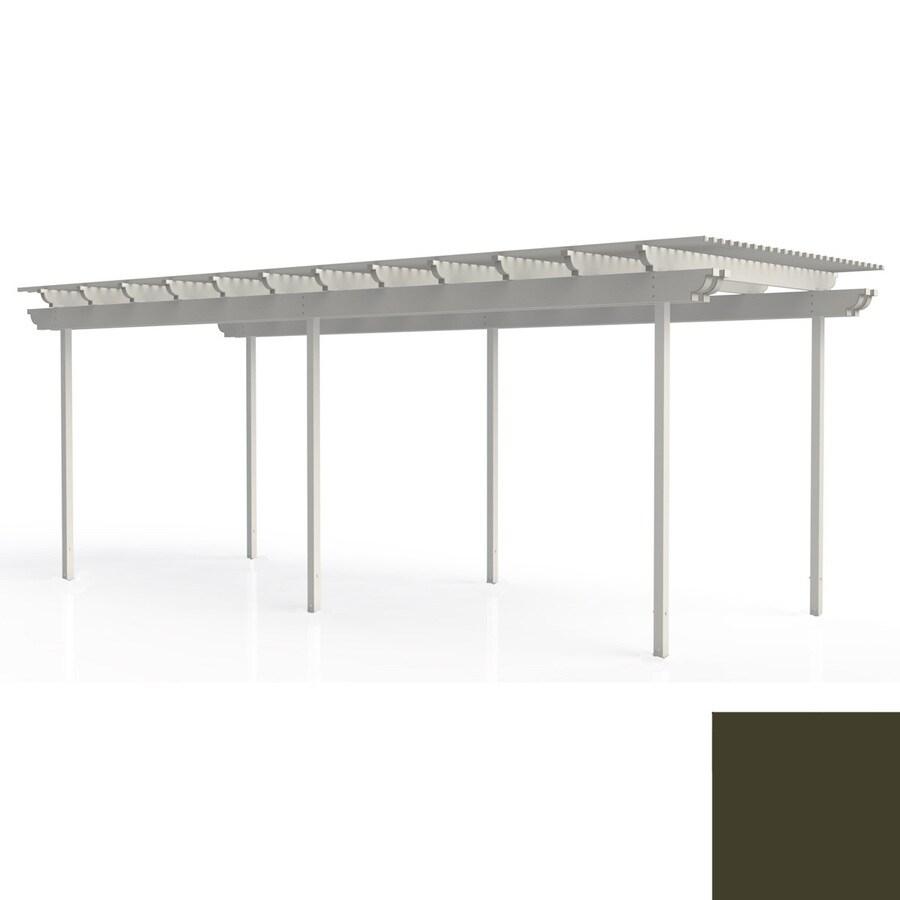 Americana Building Products 96-in W x 360-in L x 112.5-in H Aged Bronze Aluminum Freestanding Pergola