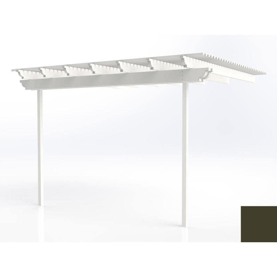Americana Building Products 144-in W x 144-in L x 112.5-in H Aged Bronze Aluminum Attached Pergola