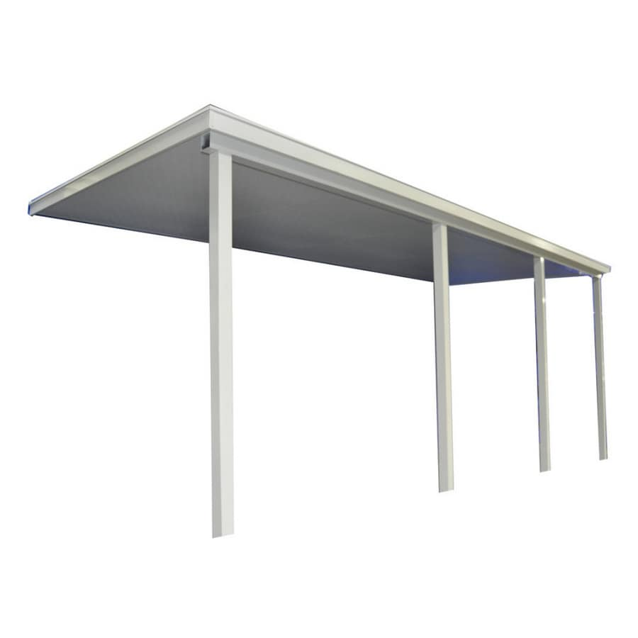Delicieux Americana Building Products 20 Ft Wide X 10 Ft Projection White Slope Patio  Awning