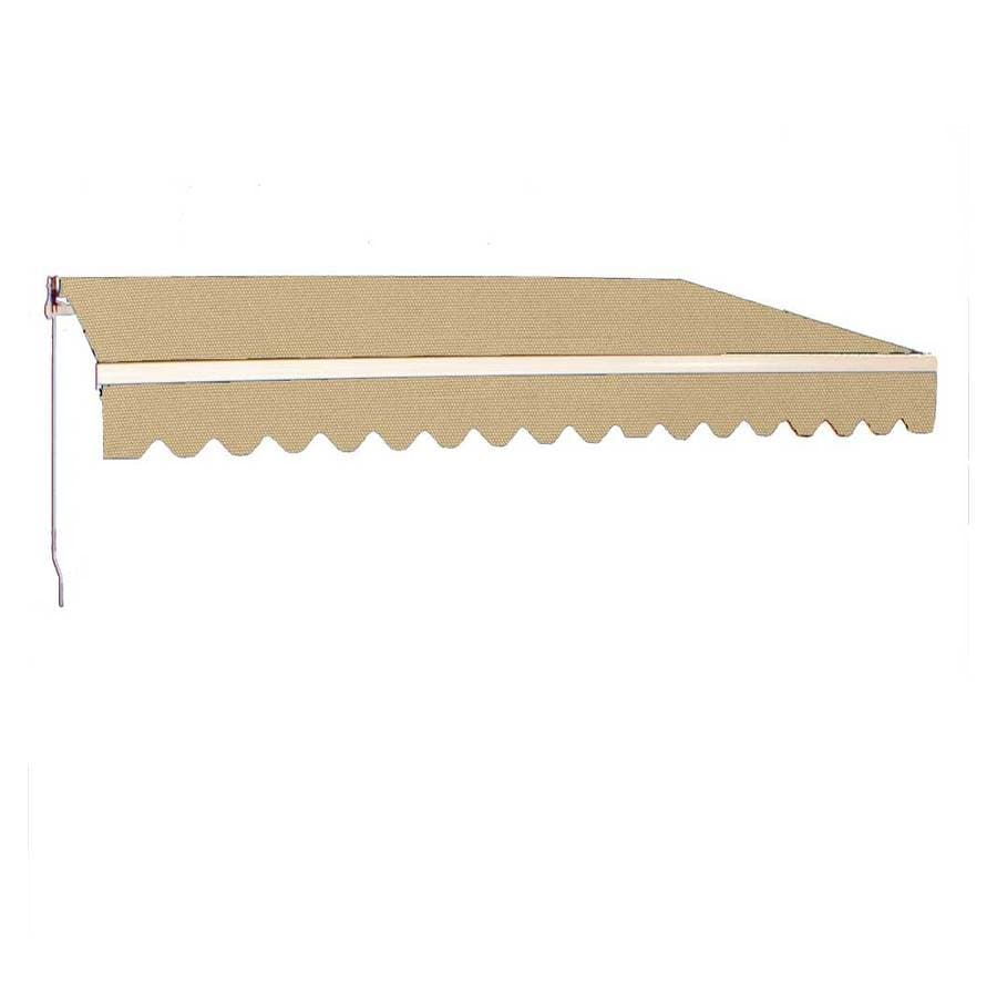 Americana Building Products 160-in Wide x 96-in Projection Toast Solid Slope Patio Retractable Manual Awning