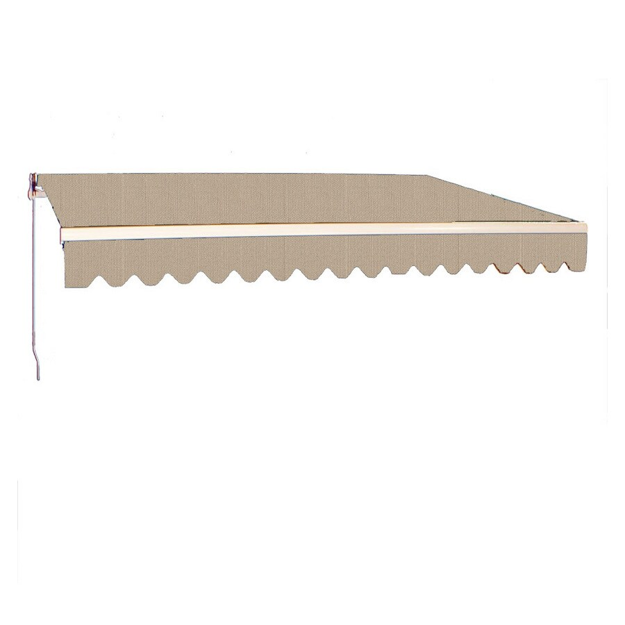 Americana Building Products 238-in Wide x 120-in Projection Linen Solid Slope Patio Retractable Manual Awning