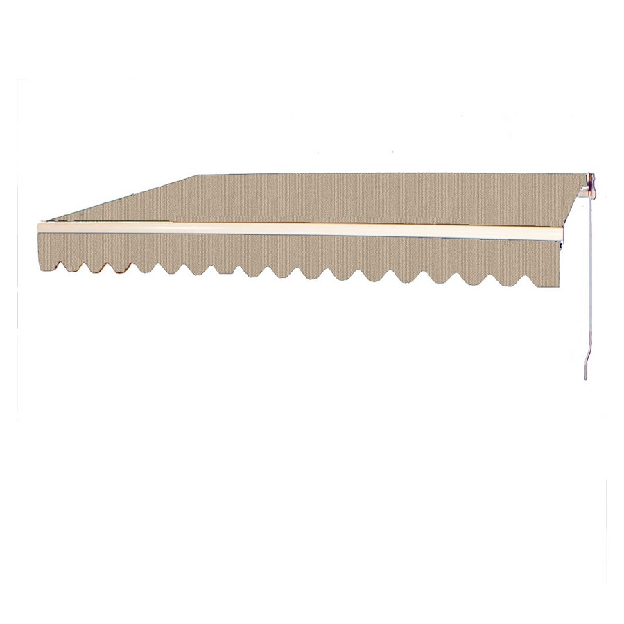 Americana Building Products 160-in Wide x 120-in Projection Linen Solid Slope Patio Retractable Manual Awning