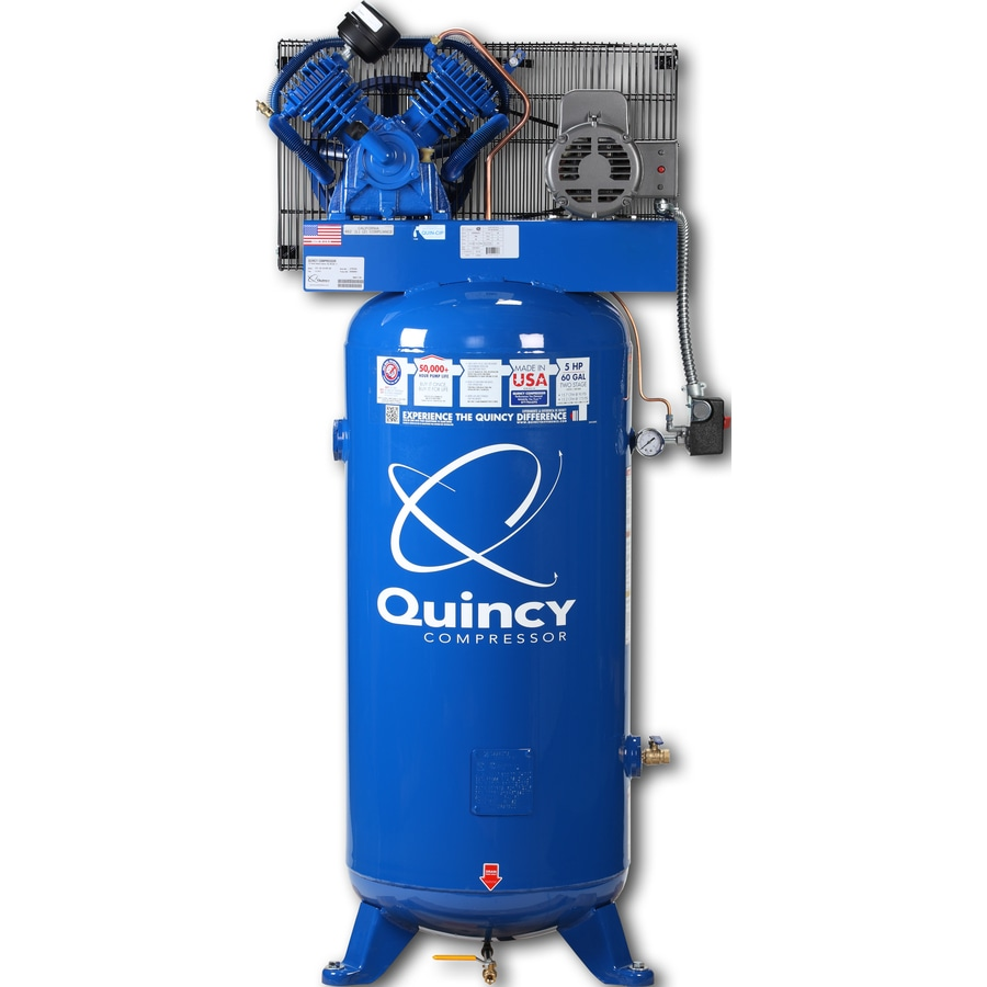 shop quincy compressor 60 gallon electric air compressor at lowes com rh lowes com