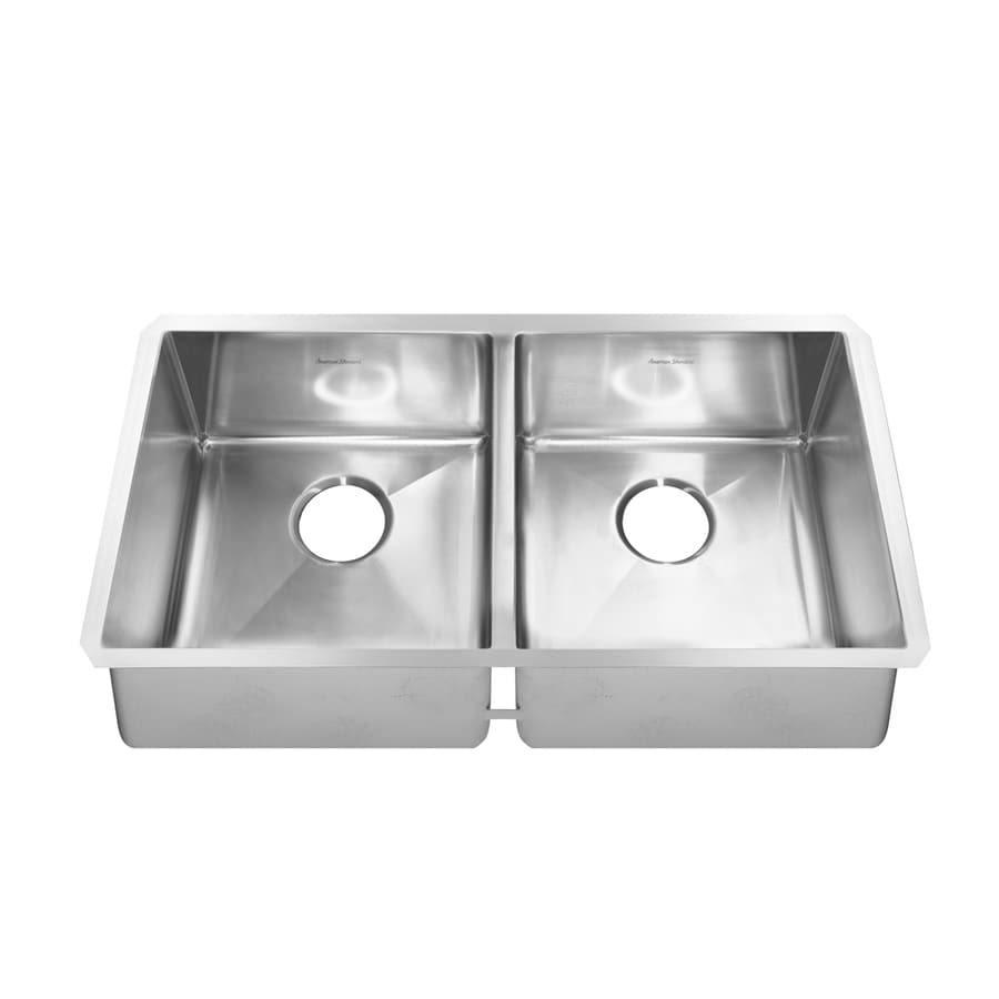 stainless steel kitchen sinks undermount 18 gauge shop american standard prevoir 18 basin 9782