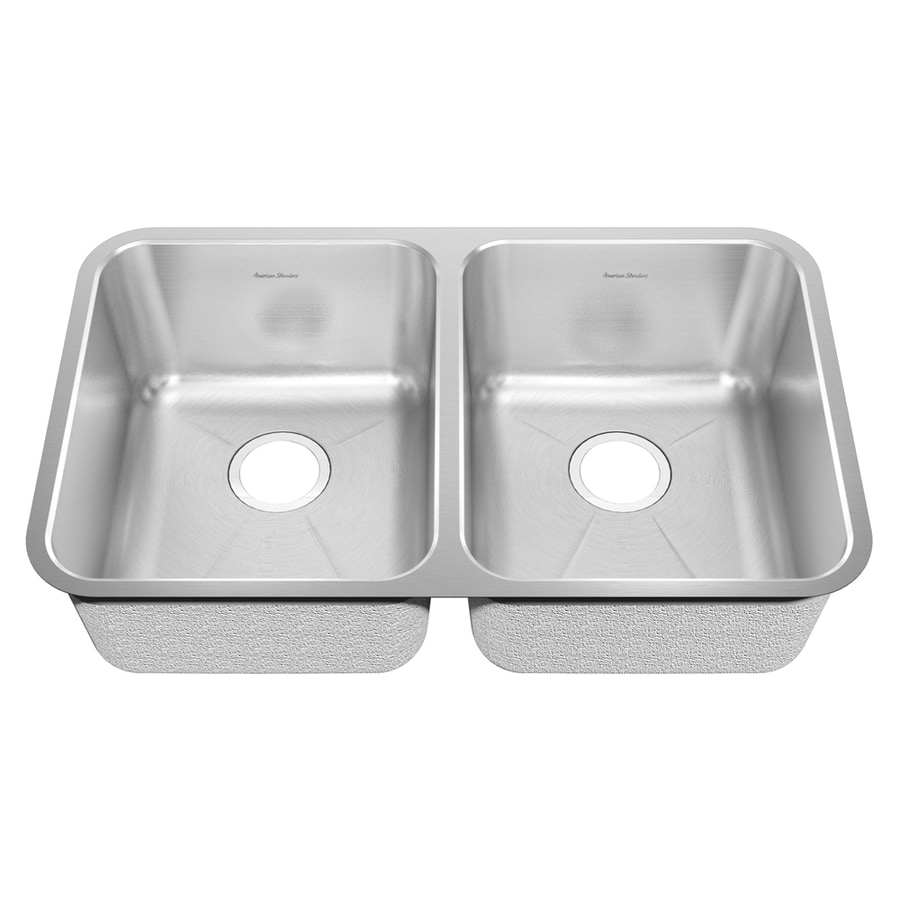 American Standard Prevoir 22.5-in x 21.5-in Radiant Silk Double-Basin Undermount Residential Kitchen Sink