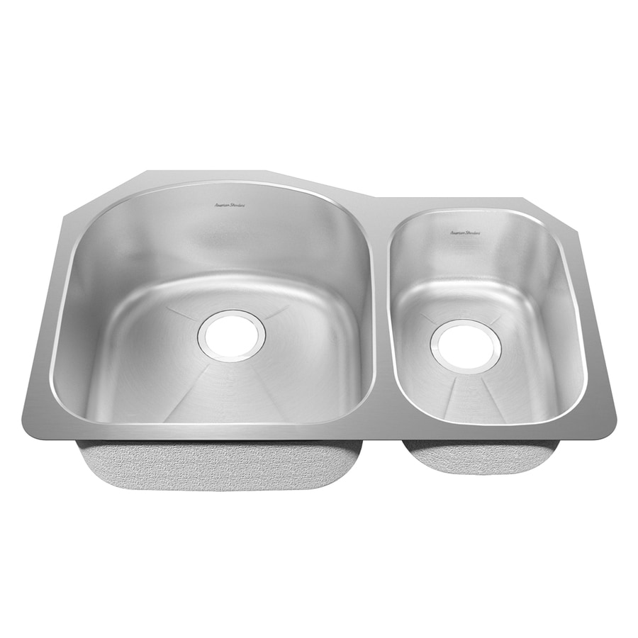 American Standard Prevoir 25.25-in x 38-in Radiant Silk Double-Basin Stainless Steel Undermount Residential Kitchen Sink