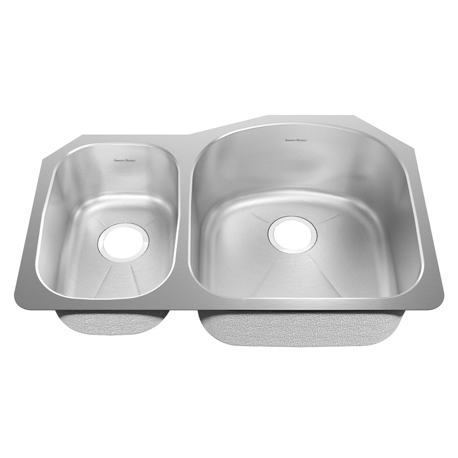 American Standard Previor 25.25-in x 38-in Silk/Brush Single-Basin-Basin Stainless Steel Undermount (Customizable)-Hole Residential Kitchen Sink