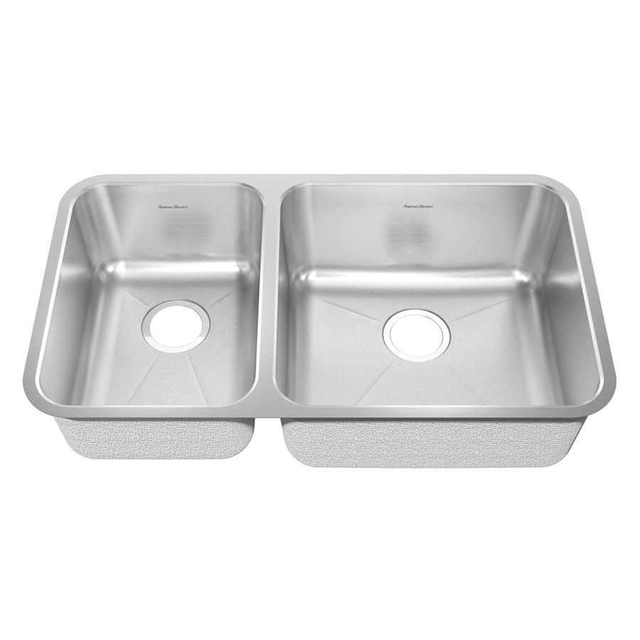 American Standard Prevoir 37.75-in x 25.3125-in Radiant Silk Double-Basin Undermount Residential Kitchen Sink