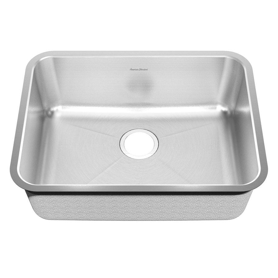 American Standard Previor 24-in x 28-in Silk/Brush Single-Basin Stainless Steel Undermount Residential Kitchen Sink
