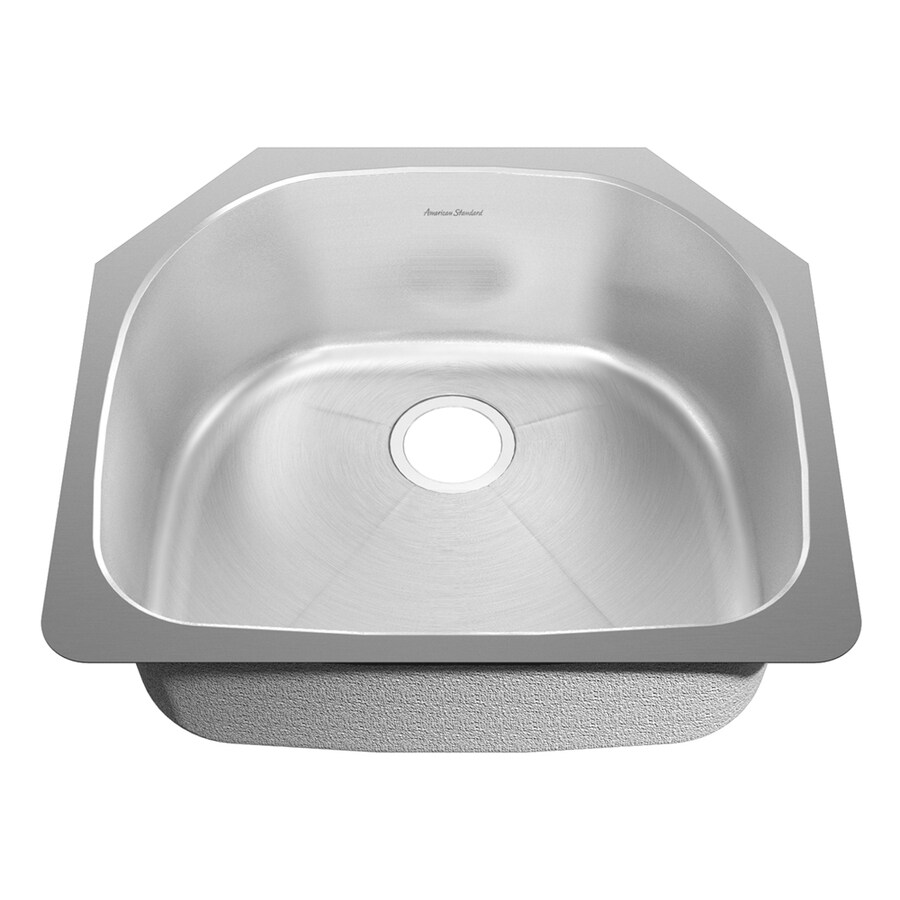 American Standard Prevoir 22.5-in x 27.5-in Radiant Silk Single-Basin Stainless Steel Undermount Residential Kitchen Sink