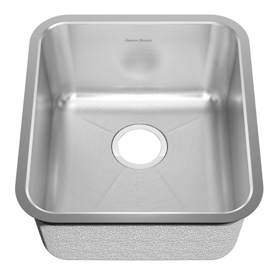 American Standard Prevoir 21.5-in x 22.5-in Radiant Silk Single-Basin-Basin Stainless Steel Undermount (Customizable)-Hole Residential Kitchen Sink