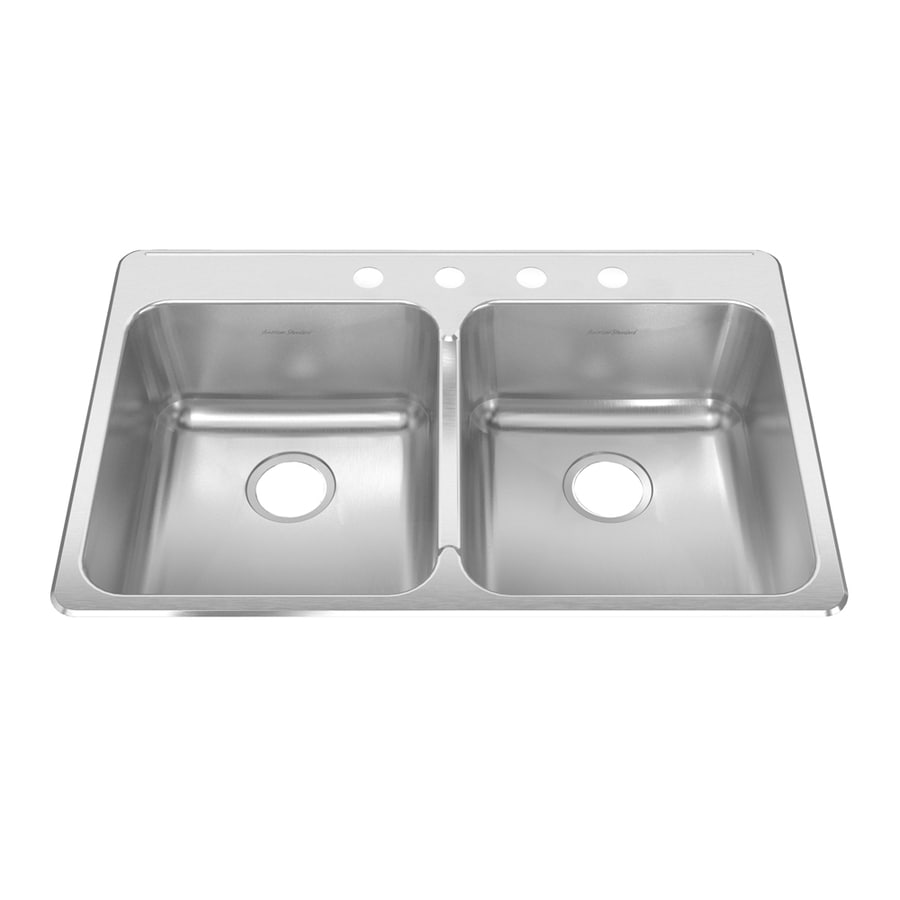 American Standard Prevoir 37.75-in x 25.3125-in Radiant Silk Single-Basin-Basin Stainless Steel Drop-in (Customizable)-Hole Residential Kitchen Sink