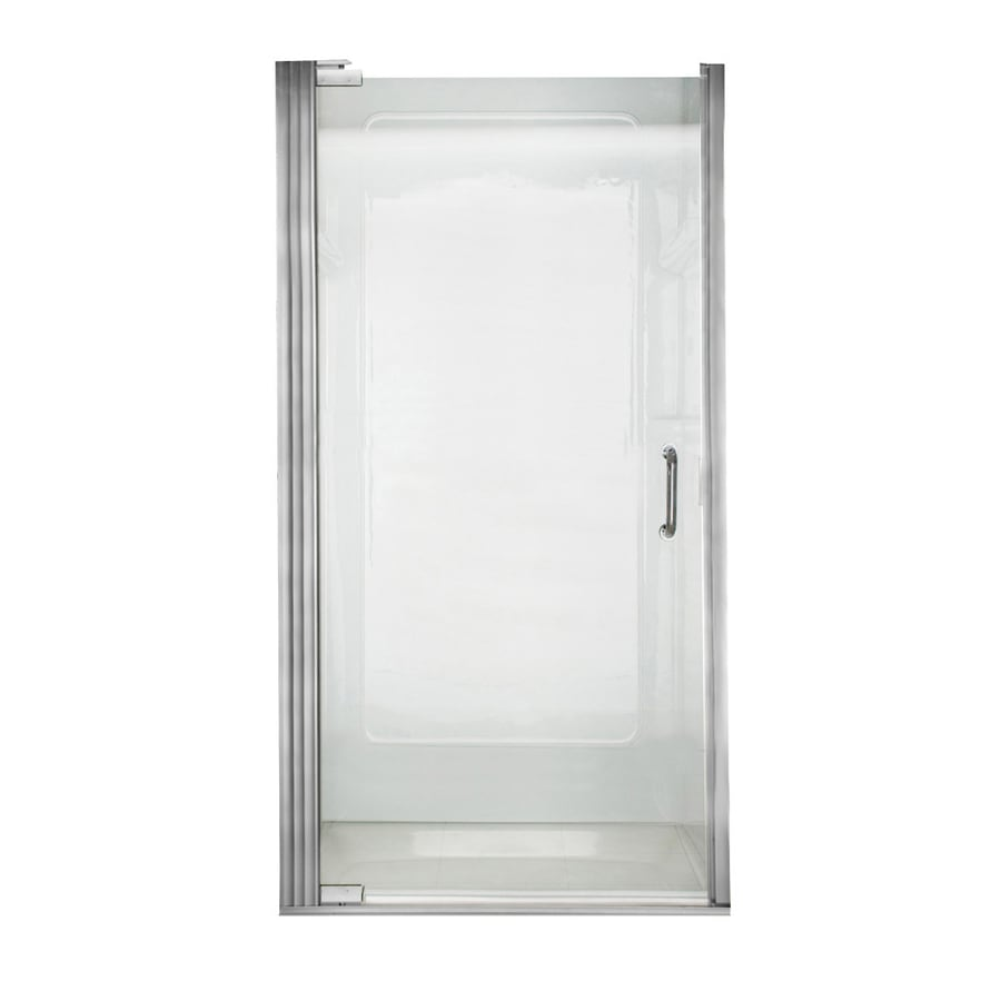 American Standard 34.25-in to 35.125-in Frameless Pivot Shower Door