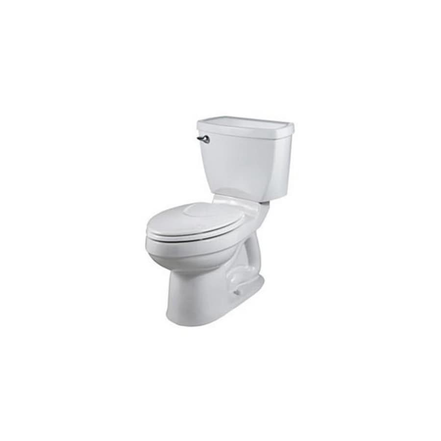 American Standard Champion 4 1.6-GPF (6.06-LPF) White Elongated Chair Height 2-Piece Toilet