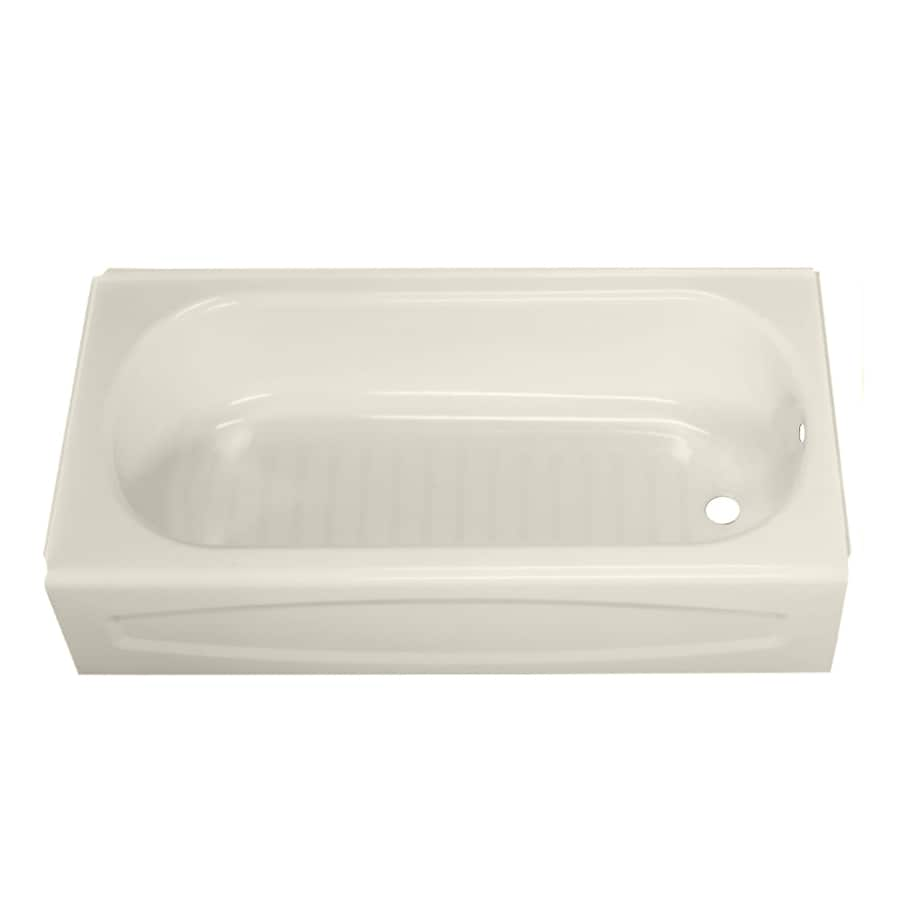 American Standard New Solar Enameled Steel Rectangular Skirted Bathtub with Right-Hand Drain (Common: 30-in x 60-in; Actual: 16.625-in x 30-in x 60-in)