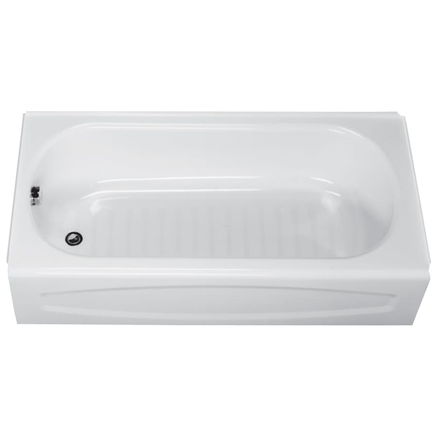American Standard New Solar 60-in Bone Enameled Steel Alcove Bathtub with Left-Hand Drain