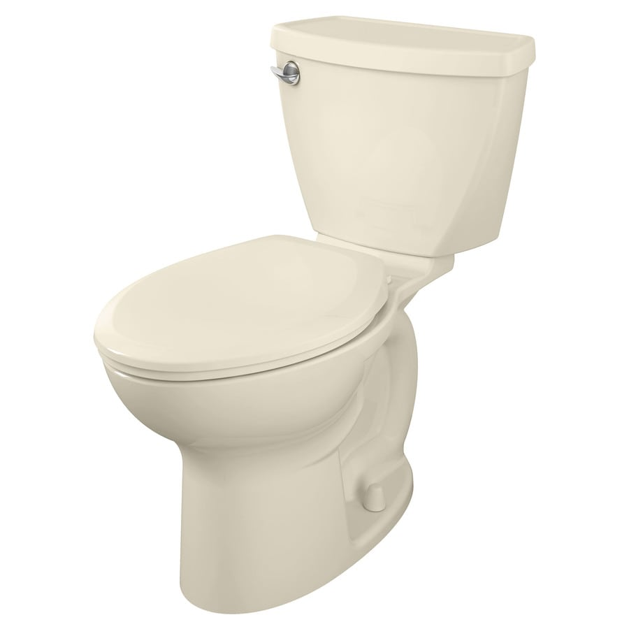 American Standard Cadet 3 Bone  Elongated Chair Height 2-piece Toilet 12-in Rough-In Size