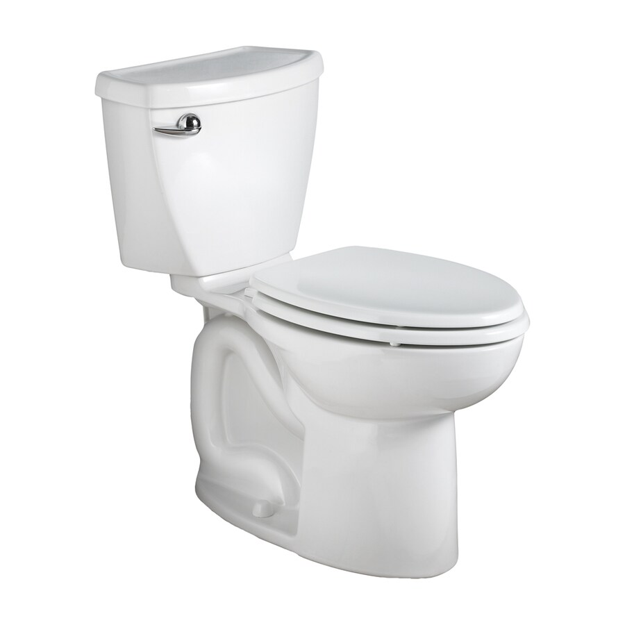 American Standard Cadet 3 1.28-GPF (4.85-LPF) White WaterSense Elongated Chair Height 2-Piece Toilet