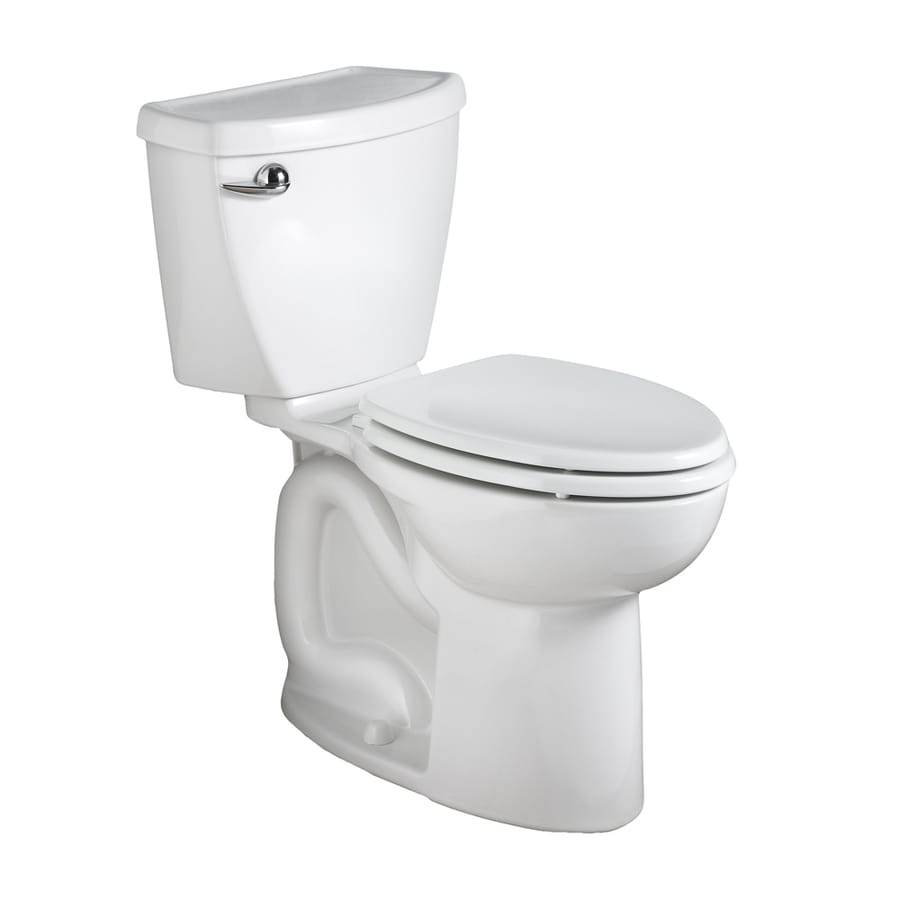American Standard Cadet 3 White WaterSense Labeled  Round Chair Height 2-piece Toilet 12-in Rough-In Size