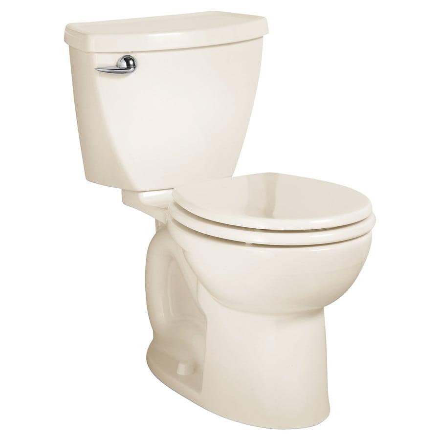American Standard Cadet 3 Linen  Round Standard Height 2-piece Toilet 12-in Rough-In Size