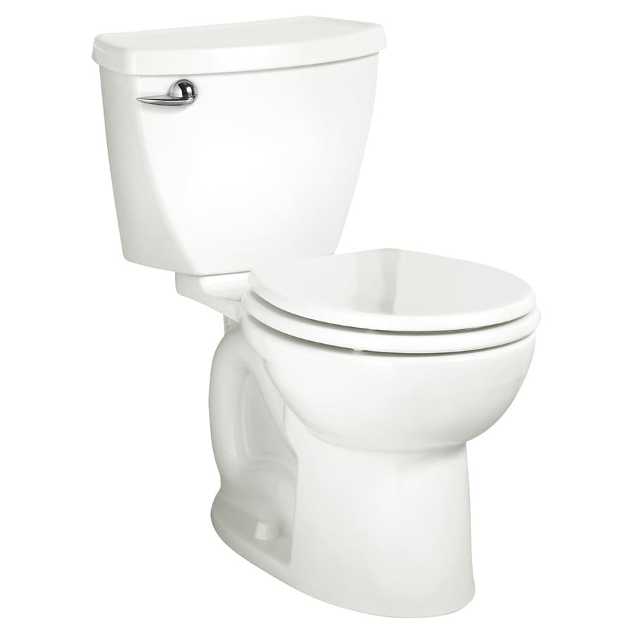 American Standard Cadet 3 White WaterSense Labeled  Round Standard Height 2-piece Toilet 12-in Rough-In Size