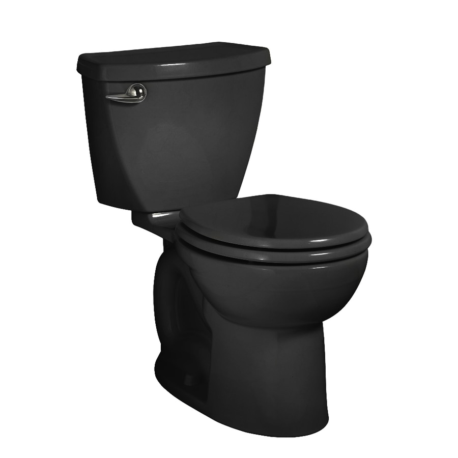 American Standard Cadet 3 Black 1.28-GPF (4.85-LPF) 12-in Rough-in WaterSense Round 2-Piece Standard Height Toilet