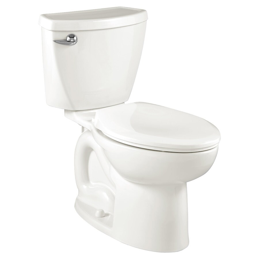 American Standard Cadet 3 White WaterSense Labeled  Compact Elongated Chair Height 2-piece Toilet 12-in Rough-In Size