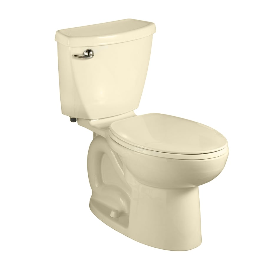 American Standard Cadet 3 1.28-GPF (4.85-LPF) Bone Compact Elongated Chair Height 2-piece Toilet
