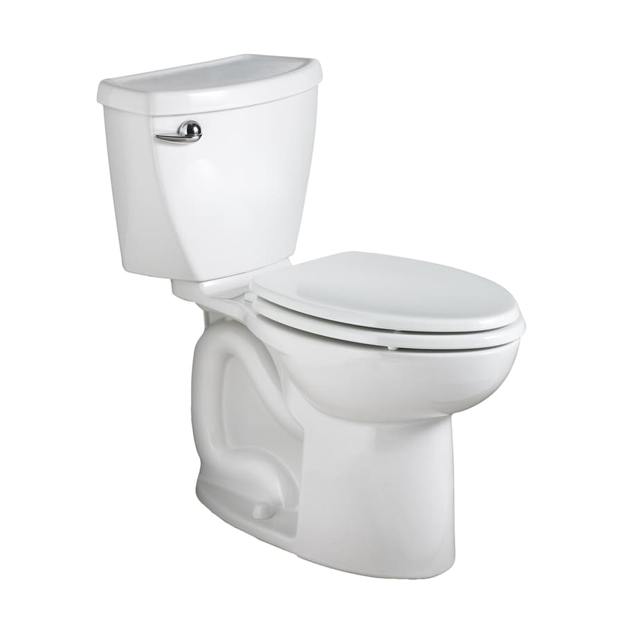 American Standard Cadet 3 White WaterSense Labeled  Elongated Chair Height 2-piece Toilet 10-in Rough-In Size