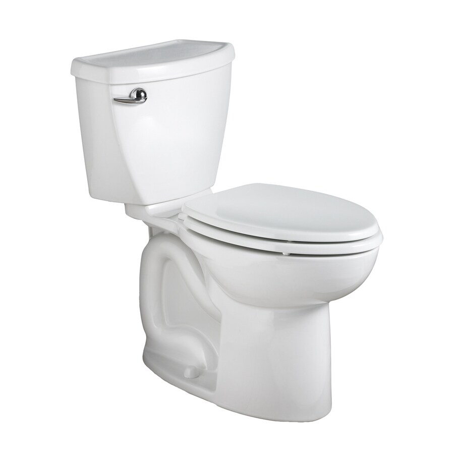 American Standard Cadet 3 1.28-GPF (4.85-LPF) White Elongated Chair Height 2-piece Toilet