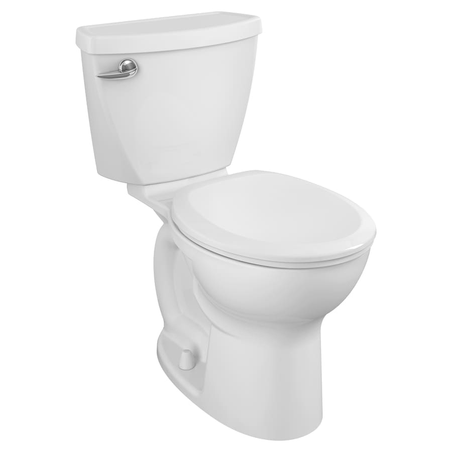 American Standard Cadet 3 1.6-GPF (6.06-LPF) White Round Chair Height 2-Piece Toilet