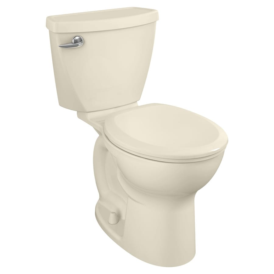 American Standard Cadet 3 1.6-GPF (6.06-LPF) Bone Round Chair Height 2-Piece Toilet