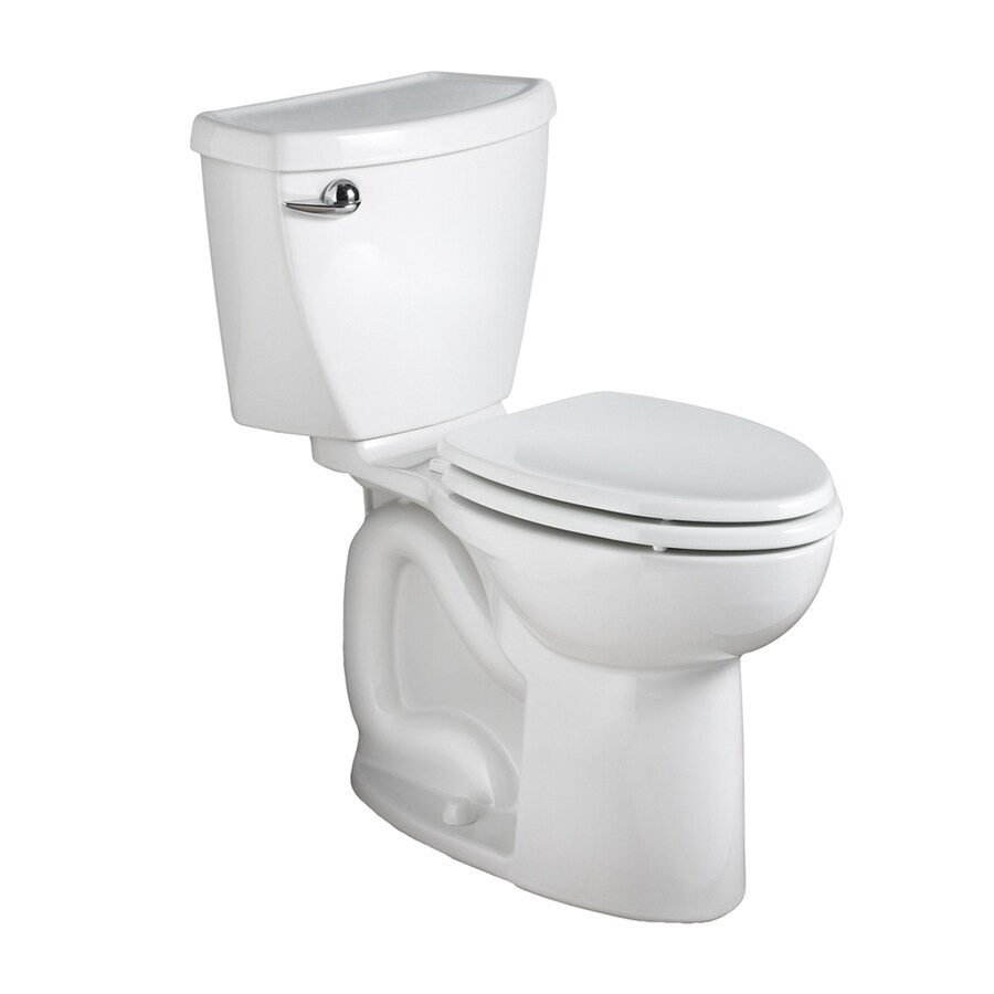 American Standard Cadet 3 1.28-GPF (4.85-LPF) White Round Chair Height 2-piece Toilet