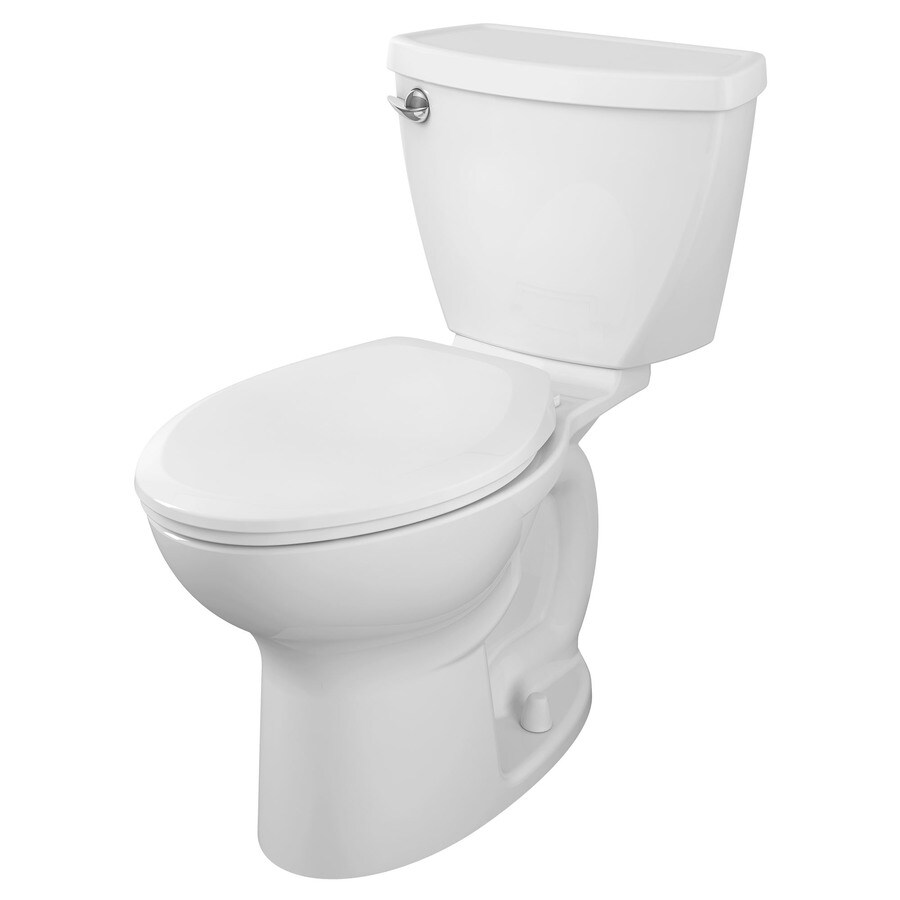 American Standard Cadet 3 White  Elongated Standard Height 2-piece Toilet 10-in Rough-In Size