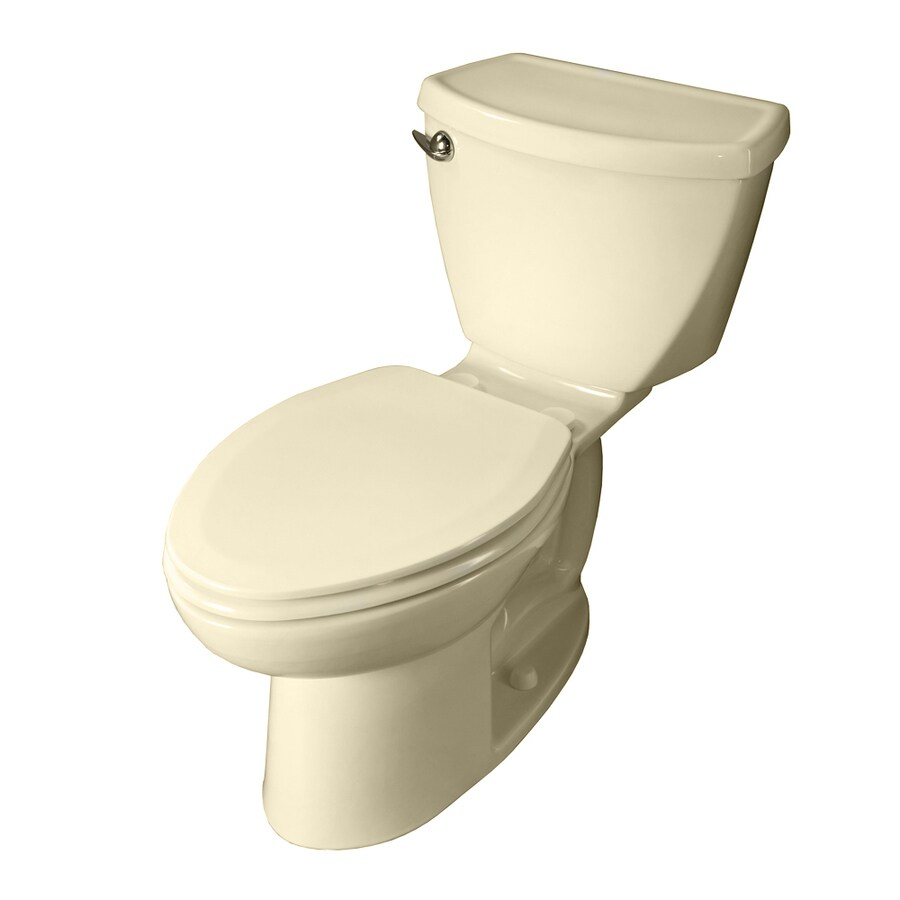 American Standard Cadet 3 Bone  Elongated Standard Height 2-piece Toilet 10-in Rough-In Size