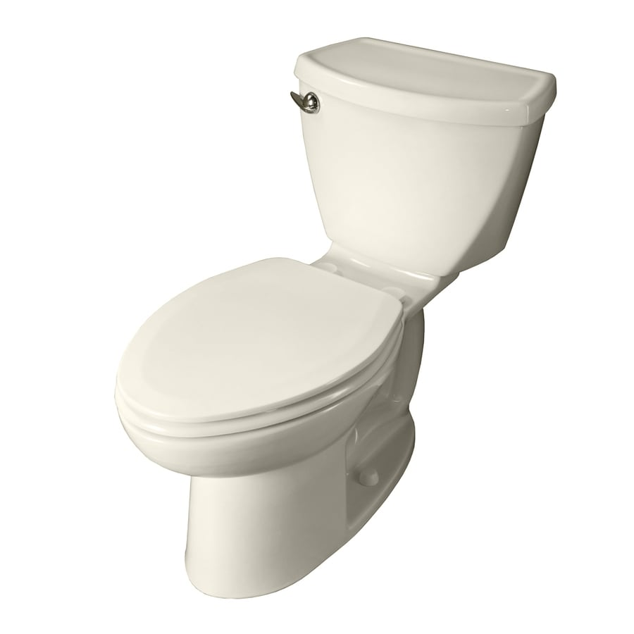 American Standard Cadet 3 Linen  Elongated Standard Height 2-piece Toilet 10-in Rough-In Size